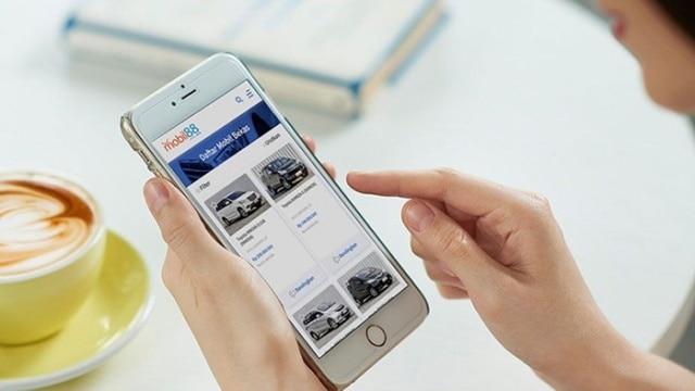 Aplikasi tampilan website mobil88