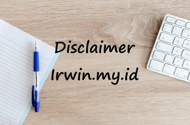 Disclaimer irwin.my.id